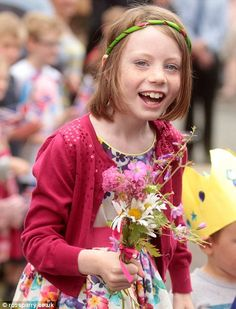 Isla Lister in Bugthorpe, East Yorkshire to meet Prince Charles and Camilla visiting