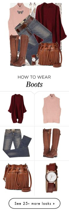"""""""knee boots"""" by gigiwhoot on Polyvore featuring Diesel Black Gold, Elizabeth and James, Naturalizer, FOSSIL, Nixon, women's clothing, women's fashion, women, female and woman"""