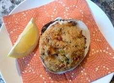 Make these easy and delicious stuffed clams from fresh quahogs (hard clams) or even use canned clams. Great for parties, snacks, and meals. Clam Recipes, Fish Recipes, Seafood Recipes, Appetizer Recipes, Snack Recipes, Cooking Recipes, Snacks, Appetizers, Asian Recipes