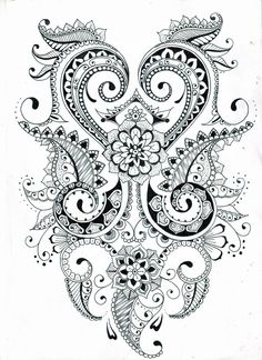 zentangle flower patterns printable - Google Search