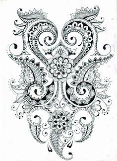 zentangle flower patterns printable - Google Search