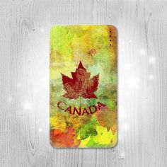 Canada Autumn Maple Leaf Gadget Personalized Tech by Lantadesign