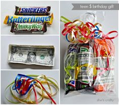She's crafty: Money birthday gift for teens