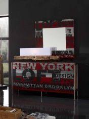 Kommode i Industriell Stil : Kolleksjon URBAN FACTORY Paint Recycling, Brooklyn New York, Entrance Hall, Painted Furniture, Decoupage, Painting, Design, Games, Decoration