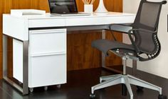 Small office furniture office Compact Desks Staples Modern Home Office Furniture Desks Storage Shelving More Bdi Modern Home Office Furniture, Executive Office Furniture, Modern Home Offices, Office Furniture Design, Home Office Desks, Furniture Ideas, Office Spaces, Slot Machine, Home Decor