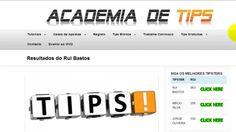 Futebol - Ganhe Dinheiro Com Futebol - Academia de Tips Visite ==>> http://www.academiadetips.com/antoniomendes (registo/cadastro GRÁTIS)
