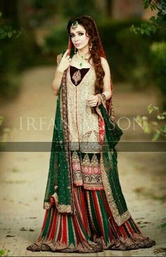 Pakistani Bridal Wear - Jugan Kazim for Mariam's Saloon. Asian Wedding Dress, Pakistani Wedding Outfits, Indian Bridal Outfits, Pakistani Wedding Dresses, Pakistani Dress Design, Indian Dresses, Pakistani Designers, Bridal Mehndi Dresses, Bridal Dress Design