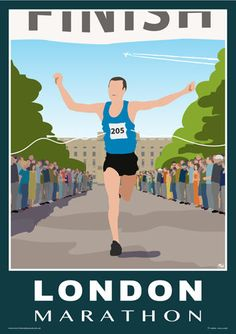Over 40,000 people ran the London Marathon in 2018. Here is a poster you can purchase for yourself, or someone you know, to commemorate the occasion. From £12 on Etsy