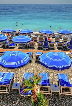 The lovely beach at Nice, France