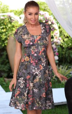 Rochie de vara Sandra gri Sandro, Short Sleeve Dresses, Dresses With Sleeves, My Style, Pretty, Fashion, Moda, Sleeve Dresses, Fashion Styles