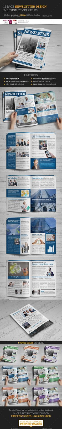 Newsletter Indesign Template v3  - Newsletters Print Templates Download here : https://graphicriver.net/item/newsletter-indesign-template-v3-/11943604?s_rank=113&ref=Al-fatih