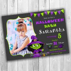 Halloween Birthday Invitation, Halloween Party Invitation, Halloween Invitation, Masha and the Bear Halloween Invitation, Halloween Invite, Halloween Card, Halloween Party, Halloween Bash