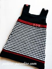 Ravelry: Houndstooth Jumper Dress pattern by Maria Bittner