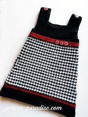 Ravelry: Houndstooth Jumper Dress pattern by Maria Bittner