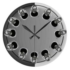 Beer Time Clock #zazzle #clocks #beer #beertime #mancaveproducts #giftsforhim #bargifts