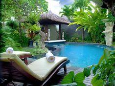 The Bali Dream Villa Seminyak -Indonesia Jalan Bidadari No. 108X Seminyak Bali One Bedroom Private Pool Villa -117.30USD Bali Honeymoon Packages, Hotel Bali, Bali Huts, Bali Architecture, Bali Furniture, Outdoor Furniture, Honeymoon Getaways, Vacations, Zen