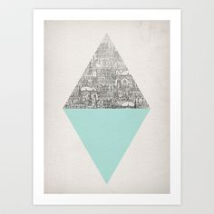 Diamond Art Print by David Fleck - $18.00 would be cool to do the black and white part palm trees