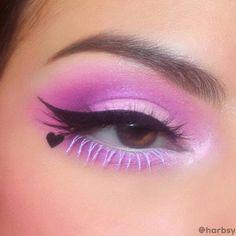 Edgy Eye Makeup, Makeup Eye Looks, Creative Makeup Looks, Colorful Eye Makeup, Eye Makeup Art, Eyeshadow Makeup, Makeup Inspo, Makeup Inspiration, Cute Eye Makeup