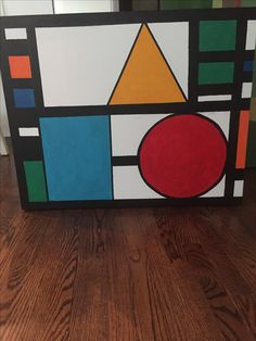 SHAPES latest acrylic abstract. 24x36. For sale