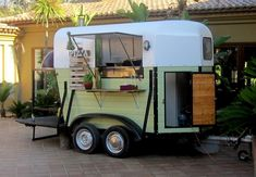 Pizza Trailer made from a converted horse box:)