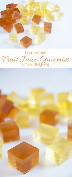 Homemade Fruit Juice Gummies - simple to make and such a fun treat | Simply Designing