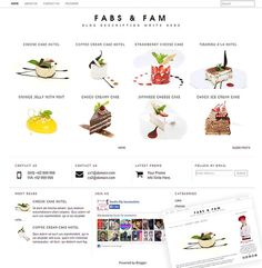 Do you want to get self hosting web design looks to your free blogspot? Ecommerce look? or gallery look? Fabs N Fam minimalist gallery blogger template is one of the best choice.  This clean looks, will match with your outstanding photography, for your online gallery,online kitchen, your food shop blog, or to any ecommerce. It's universal!   Gallery Blog Template  Modern Blogger Template by mycandythemes