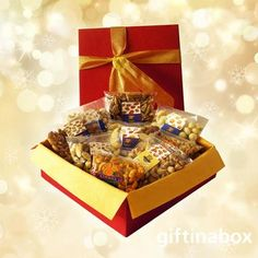 Online Xmas gift hampers with nuts ZA delivery. Gift Hampers, Gift Baskets, Pecan Nuts, Mixed Nuts, Gold Ribbons, Almonds, Pistachio, Tissue Paper, Holiday Gifts