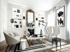 Apartment by Ando Studio in Saint Germain, Paris (5)