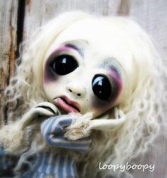 Loopy OOAK Art Doll Giclee Goth Art Print. via Etsy.