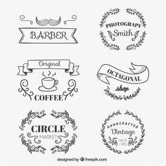 Emblemas loja esboçado