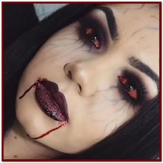 Hallowen Makeup And now I& a vampire went a little too much on the veins but still happy h. , And now I& a vampire went a little too much on the veins but still happy h. And now I& a vampire went a little too much on the veins but s. Unique Halloween Makeup, Pretty Halloween, Halloween 2018, Diy Halloween Vampire Makeup, Vampire Costume Women, Zombie Makeup, Scary Halloween, Happy Halloween, Kosmetik Online Shop