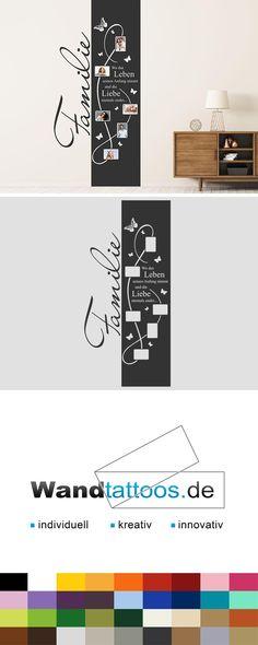 Wandtattoo Fotobanner Familie Als Idee Zur Individuellen Wandgestaltung.  Einfach Lieblingsfarbe Und Größe Auswählen. Weitere