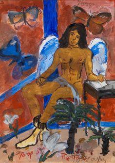 Τσαρούχης Γιάννης-Άγγελος – Yannis Tsarouchis [1910-1989] | paletaart – Χρώμα & Φώς Fantasy Art Men, France Art, Queer Art, Portraits, Caravaggio, Gay Art, Figure Painting, Find Art, Graffiti