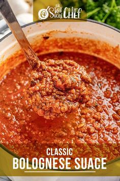 Learn three ways to make Classic Bolognese Sauce with instructions for the stovetop, Instant Pot, and slow cooker. This traditional Italian red sauce is savory, rich, and full of flavor. #bolognesesauce #pastasauce Slow Cooker Pasta, Slow Cooker Recipes, Crockpot Recipes, Cooking Recipes, Italian Dishes, Italian Recipes, Italian Foods, Italian Pasta, Italian Red Sauce Recipe