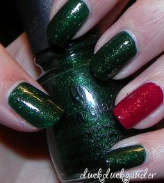 christmas nails... That I can actually do myself!