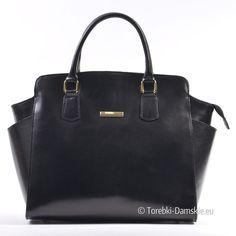 10cad2b880f7d Elegancki czarny kuferek - włoska torebka skórzana