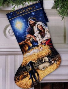 christmas stocking cross stitch patterns free - Google Search