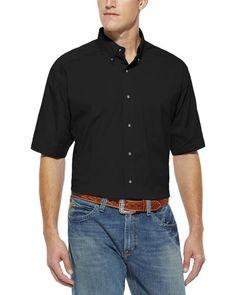 Ariat Men's Solid Black Poplin Shirt