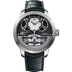 Girard Perregaux Constant Escapement L.M. 48mm 93500-53-131-ba6c Watch (127,770 CAD) ❤ liked on Polyvore featuring men's fashion, men's jewelry and men's watches