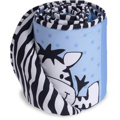 Baby Boom I Luv Zebra Crib Bumper, Blue