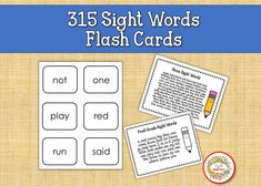 Sight Word Flash Cards, Dolch Sight Words, Flashcards Printables, Sight Words Flashcards, Elementary Sight Words Sight Word Bingo, Sight Word Flashcards, Dolch Sight Words, Sight Word Activities, Counting Activities, Learning Resources, Teacher Resources, Teaching Ideas, Learn To Spell