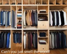 From the Esquire model home for the chic chap a man's closet