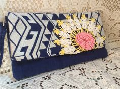 Geometric Southwest Boho Cowgirl Up Cycled Clutch Purse by RanchoRetroVintage on Etsy https://www.etsy.com/listing/464971286/geometric-southwest-boho-cowgirl-up