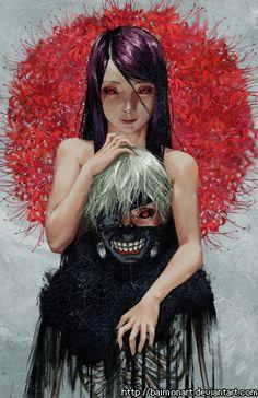 Tokyo Ghoul / Rize & Kaneki