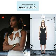 "On the blog - Ashley Davenport's (Ashley Madekwe) white cutout dress | Revenge - ""Fear"" (Ep. 301) #tvstyle #tvfashion #fashion #outfits #lwd"