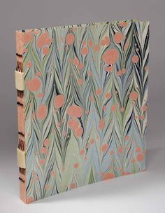 Longstitch Album with the stitching beautifully matched to the marbled paper - #bookbinding by Shelagh Smith