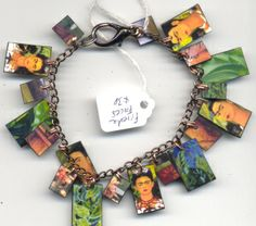 Frida Faces Bracelet $38 - fired pieces from Frida Kahlo paintings by ©Cathy Carey