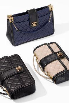 Vinyl and calfskin travel bag - CHANEL Chanel Handbags, Purses And Handbags, Leather Handbags, Chanel Bags, Chanel Chanel, Chanel Vintage, Vintage Bags, Luxury Bags, Luxury Handbags