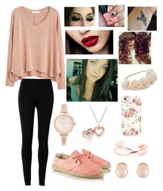 """""""Pink rose set"""" by moose33 ❤ liked on Polyvore featuring MANGO, Max Studio, Soludos, Retrò, Mudd, River Island and Kenneth Jay Lane"""