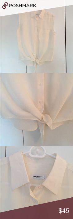 Selling this Equipment Mina Tie Front Silk Blouse on Poshmark! My username is: aebird12. #shopmycloset #poshmark #fashion #shopping #style #forsale #Equipment #Tops